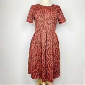NWT LuLaRoe Amelia geometric print dress XL